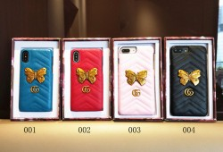 iphonexカバー Gucci レディース アイフォン 8 ケース 蝶 可愛い グッチアイホーンテン レザーカバー  ...