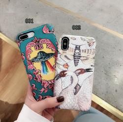 iPhone Xハードカバー Gucci プリント アイフォーンテンケース グッチ プリント ロマンチック gucci ip ...