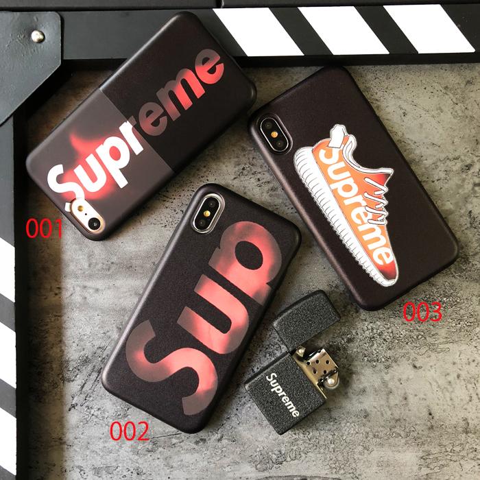 カッコイイ 変色 シュプリームケース アイフォーンX 黒 SUPREME IPHONE8PLUS カバー
