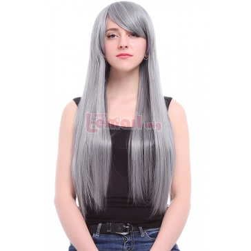 Anime Long Silver Straight Cosplay Party Hair Wig CW185 manufacturer, Anime Long Silver Straight ...