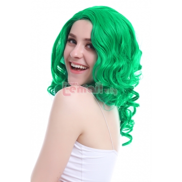 55cm Long Green Wave Curly Anime Cosplay Wig ZY102 – L-email Cosplay Wig