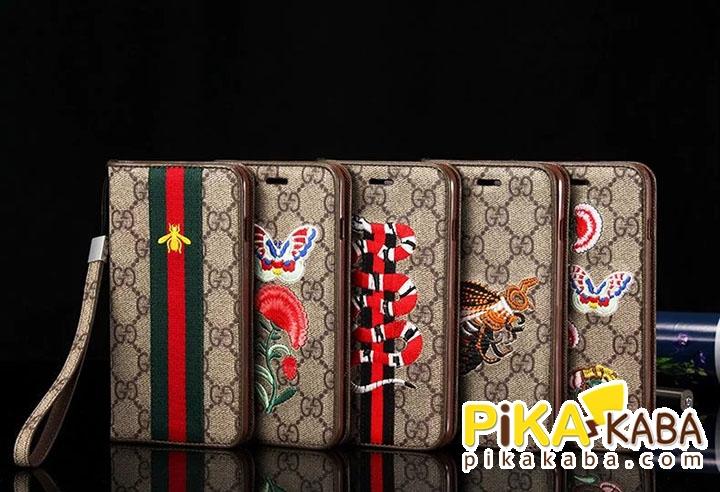 iPhoneXケース 手帳型 男女兼用 グッチアイフォン8/8 plusケース お洒落 iPhone テン ケース