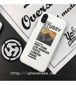 ブランド Stussy iphoneXケース ステューシー アイフォン8 プラス ストリート風 iphone6カバー かっこ ...