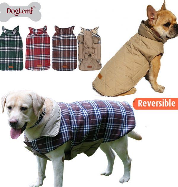 Waterproof Reversible Dog Jacket – My Pet