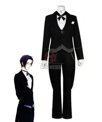 Buy Black Butler Claude Black Suit Anime Cosplay Outfits – RoleCosplay.com