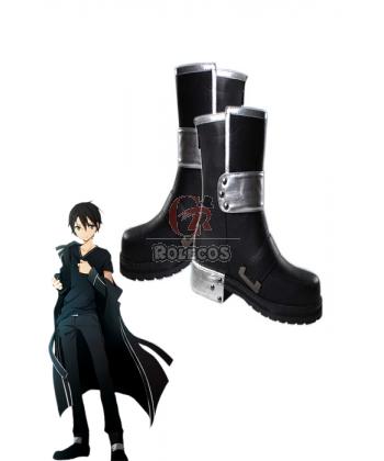Buy Swort Art Online Shoes Black Kirigaya Kazuto – RoleCosplay.com
