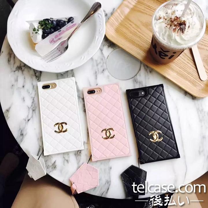 シャネル iphone8 ケース アイフォンテン/x 携帯カバー CHANEL iphone7/6splusケース ネックストラップ ...