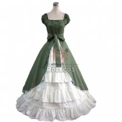 Womens Medieval Renaissance Costume Dress Victorian Lolita Sleeveless Long Dress