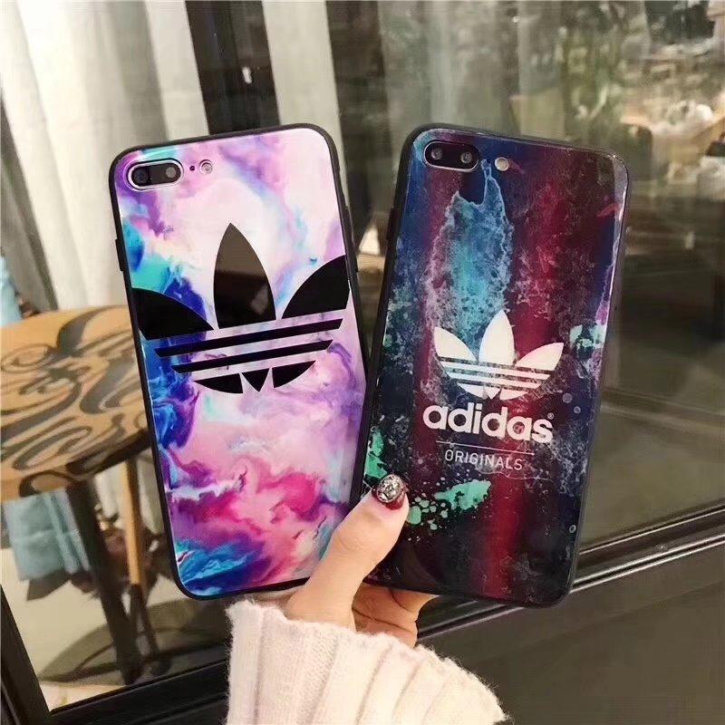 iphone ケース 8plus adidasガラス艶あり外観8人気スポーツブランド アディダス7plus/7携帯カバー男女 ...