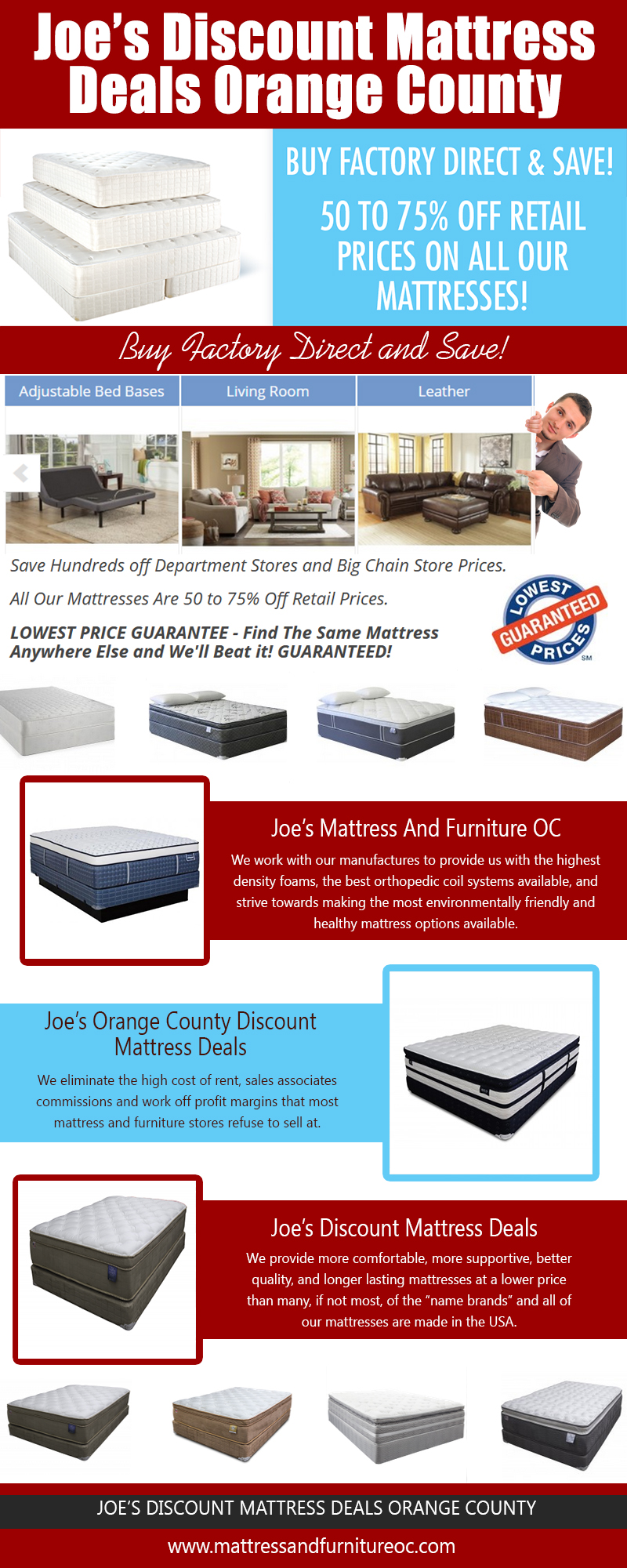 Joe's Discount Mattress Deals Orange County