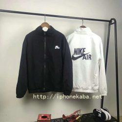 ブランド ナイキ ジャケット ホワイト&ブラック揃い パーカ ペアルック オシャレ メンズファション