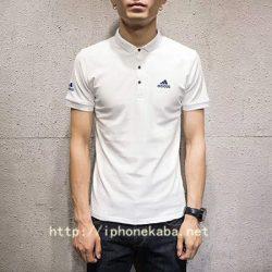 ブランド adidas 半袖シャツ 芸能人ウェア ブラック ホワイト メンズ Adidas スポーツ風 トップス 送料無料
