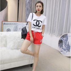chanel Tシャツ夏 女の子 シャネル パンツ 半袖 ズボン服 ペアお揃いブランド服 2点セット