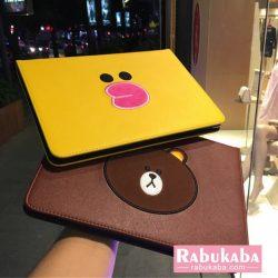 韓国風 新ipad 5/6 ブランドケース ラインフィード アイパッド mini 2/3/4 手帳カバー line friends 人 ...