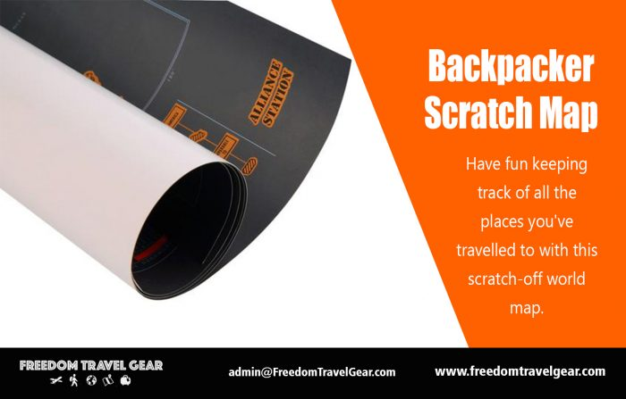 Backpacker Scratch Map | https://www.freedomtravelgear.com/