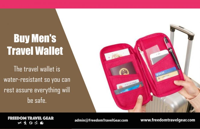 Buy Men's Travel Wallet | https://www.freedomtravelgear.com/