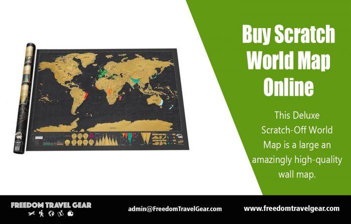 Buy Scratch World Map Online | https://www.freedomtravelgear.com/