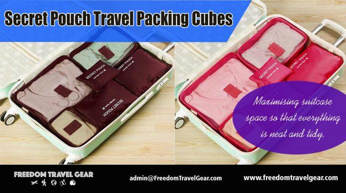 Secret Pouch Travel Packing Cubes | https://www.freedomtravelgear.com/