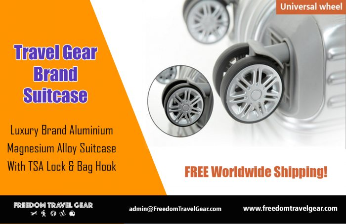 Travel Gear Brand Suitcase | https://www.freedomtravelgear.com/