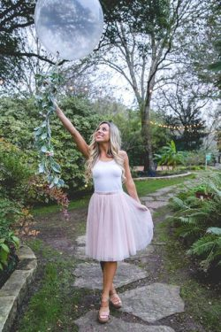 Pink Tulle Cheap Bridesmaid Dress