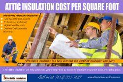 Attic Insulation Cost Per Square Foot | affordableinsulationmn.com
