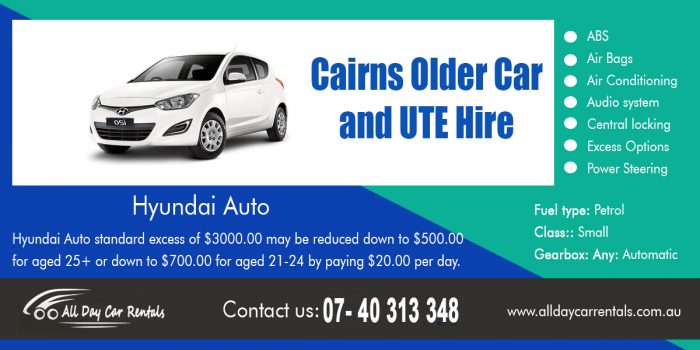 Cairns Older Car and Ute Hire