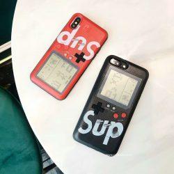 シュプリーム iPhoneX Plusケース ゲーム機 SUPREME アイフォン8/7プラスカバー ペア iPhone7/6s ブラ ...