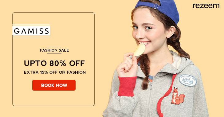 Get 80% Off + Additional 15% Off on Fashion Collection
