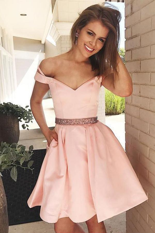 Gorgeous Sweetheart Neck A-line Knee Length Homecoming Dress M480 – Ombreprom