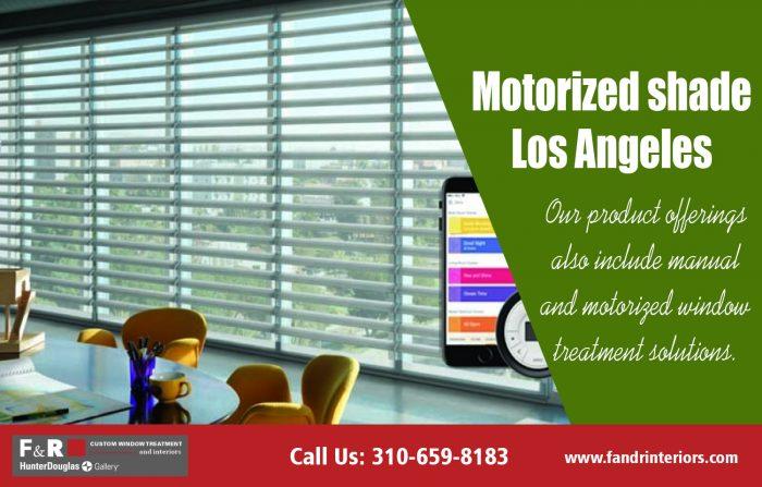 Motorized shade Los Angeles| http://fandrinteriors.com/
