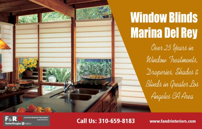 Window blinds Marina Del Rey| http://fandrinteriors.com/