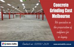 Affordable Concrete grinding cost Melbourne
