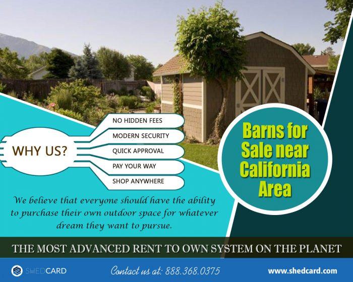 Barns For Sale Near California Area | 888.368.0375 | shedcard.com
