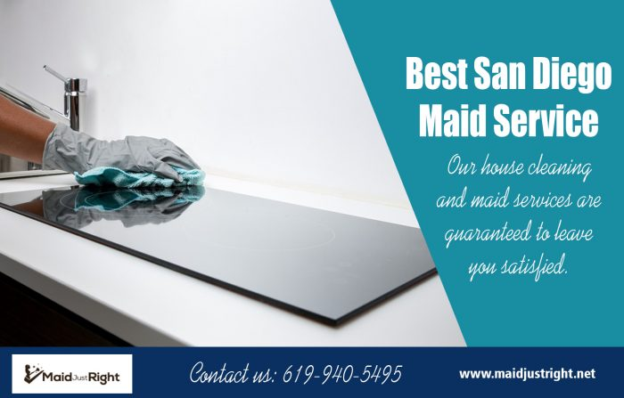 Best San Diego Maid Service | Call Us – 619-940-5495 | maidjustright.net