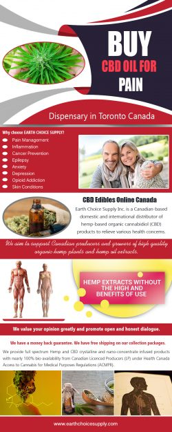 Buy Best CBD Oil for Pain | Call Us – 416-922-7238 | earthchoicesupply.com