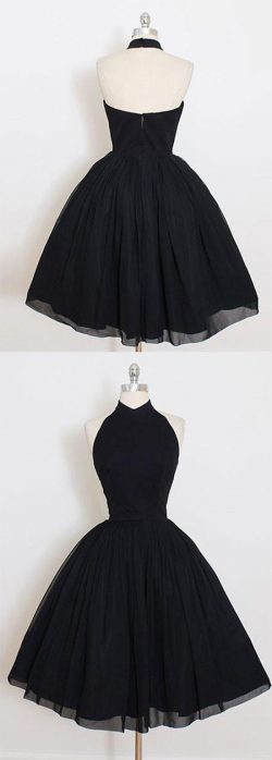 2018 Cocktail Dresses A Line Halter Tulle Short/Mini Zipper Up