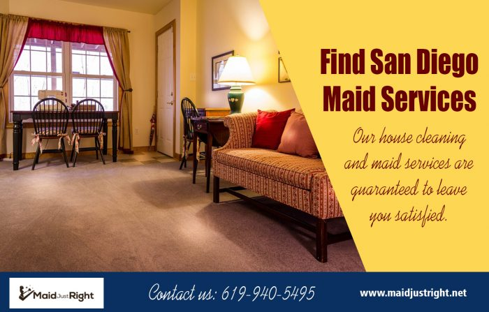 Find San Diego Maid Services | Call Us – 619-940-5495 | maidjustright.net