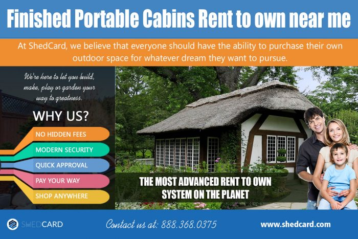 Finished portable cabins rent to own near me | shedcard.com