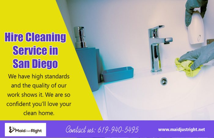 Hire Cleaning Service In San Diego | Call Us – 619-940-5495 | maidjustright.net