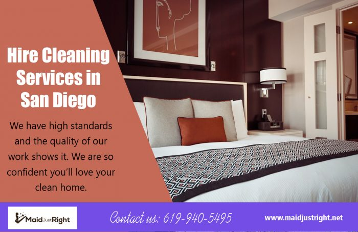 Hire Cleaning Services In San Diego | Call Us – 619-940-5495 | maidjustright.net