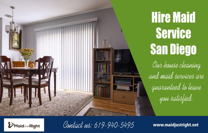 Hire Maid Service San Diego | Call Us – 619-940-5495 | maidjustright.net