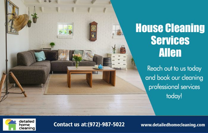 House Cleaning Services Allen http://www.detailedhomecleaning.com/