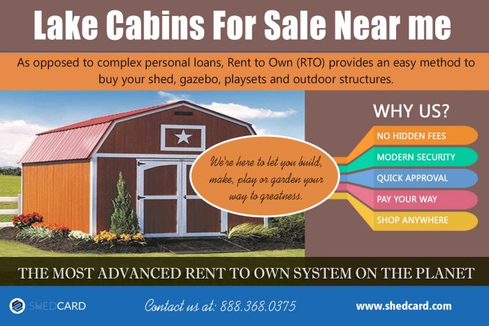 Lake Cabins For Sale Near me   shedcard.com