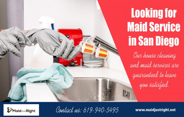 Looking For Maid Service In San Diego | Call Us – 619-940-5495 | maidjustright.net
