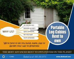 Portable Log Cabins Rent To Own | 888.368.0375 | shedcard.com