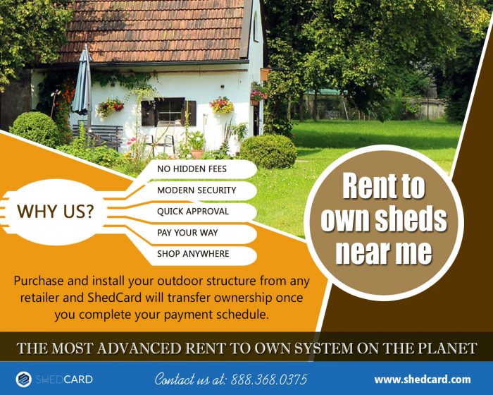 Rent To Own Sheds Near Me | 888.368.0375 | shedcard.com