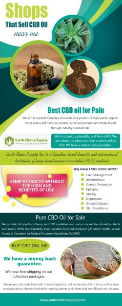 Shop that Sell CBD Oil Near me | Call Us – 416-922-7238 | earthchoicesupply.com