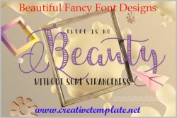 Beautiful Fancy Font Designs | Creativetemplates