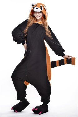 Best Raccoon Animal Onesies Unisex Pyjamas Halloween Cosplay Costume, ZJG021 – kigurumionesie