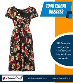1940 floral dresses | 2036378223 | weekenddoll.co.uk